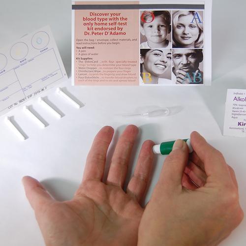 krevní skupina test